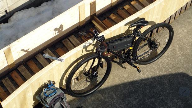 凡その形が整い、今日は初バイク後「逆川岳」「横岳」縦走です