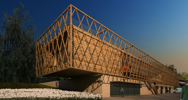 wettbewerb st. gallen entwurf drahtler architekten planungsgruppe dortmund holz visualisierung