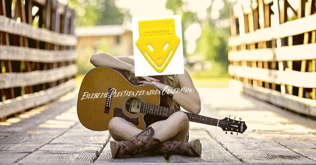 Alvaplek acoustic,Alvaplek premium, absolut grip picks besondere Intonation, Manuel Alvarez Gitarrenpleks, Gitarren Plektren made in germany,