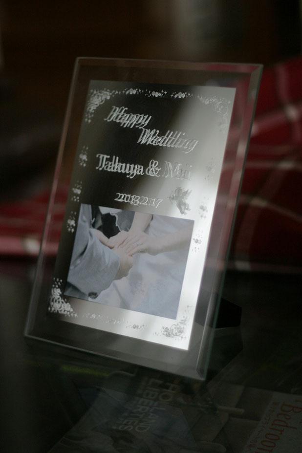 名入れ彫刻 結婚お祝い ブライダル記念品
