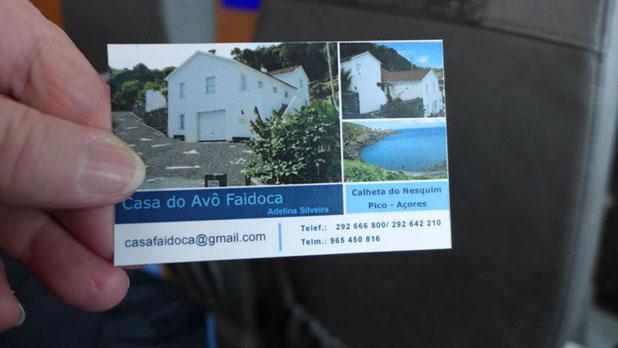 Diese Adresse für Vermietungen wurde uns heute von einer Mitreisenden übergeben. Bestimmt interessant für Interessierte.