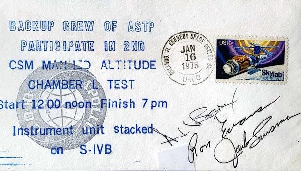 Autograph Ron Evans Autogramm