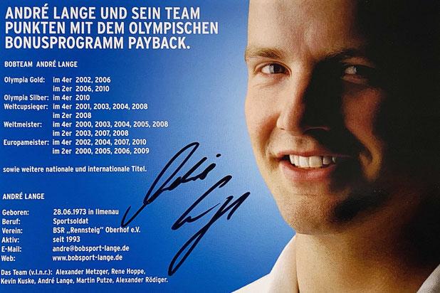 Autograph Andre Langen Autogramm
