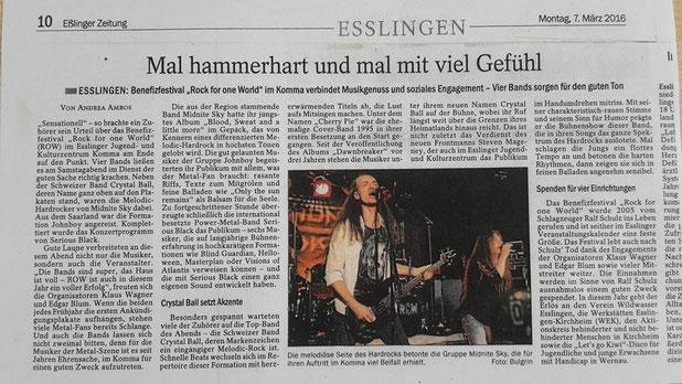 Esslinger Zeitung, 07.03.2016