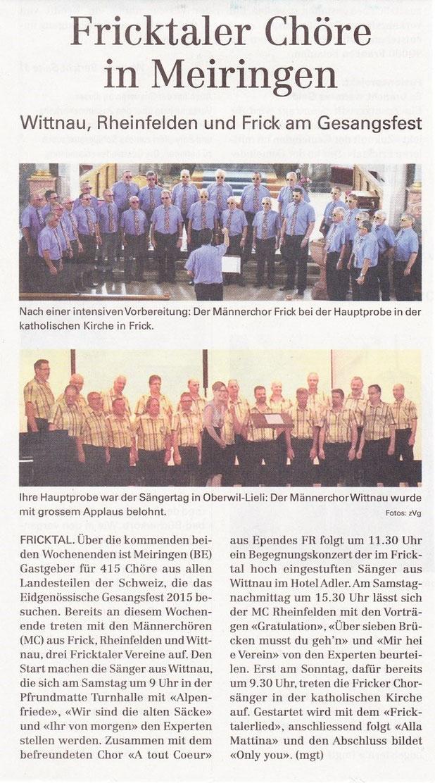 Neue Fricktaler Zeitung 11.06.2015