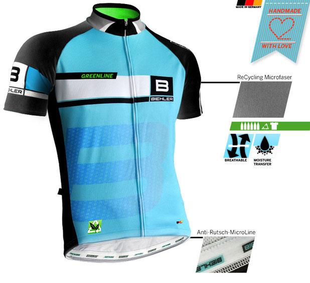 Biehler Sportswear Greenline Radtrikot getestet von #sportspunk