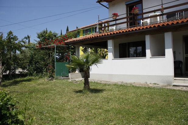 Green apt. - garden and entrance Green apt.