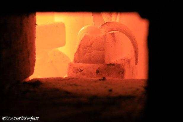 """Indicateur de température -montre- dans le Noborigama de """"Caco et Sylvie"""" pendant une cuisson..."""