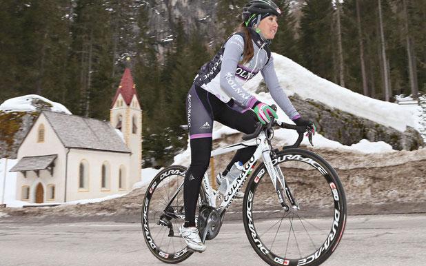 Eva Lechner ist Testimonial der Giro-App Martelltal © EURAC/Veranstalter
