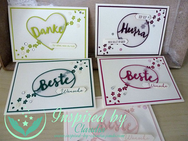 Thinlits Liebevolle Worte, Inspired-by-claudia, Stampin' Up!