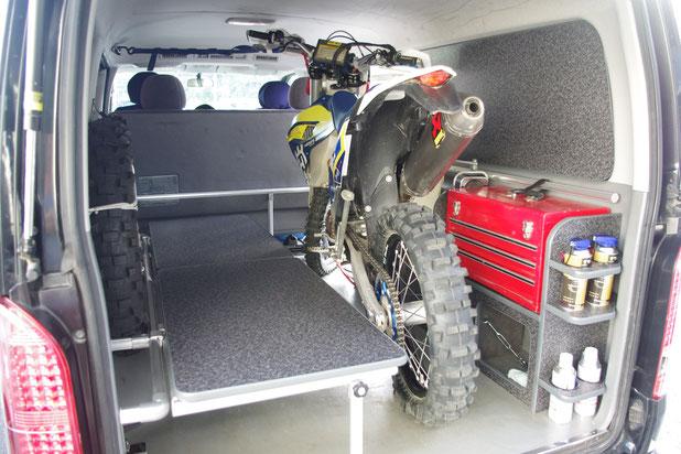 バイク積載用トランポ モトクロス用トランポならOSPトランポキット