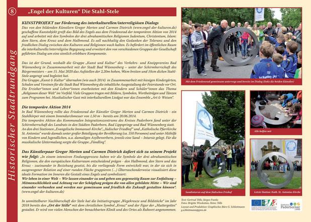 Informationsschild Initiativgruppe Historischer Stadtrundgang