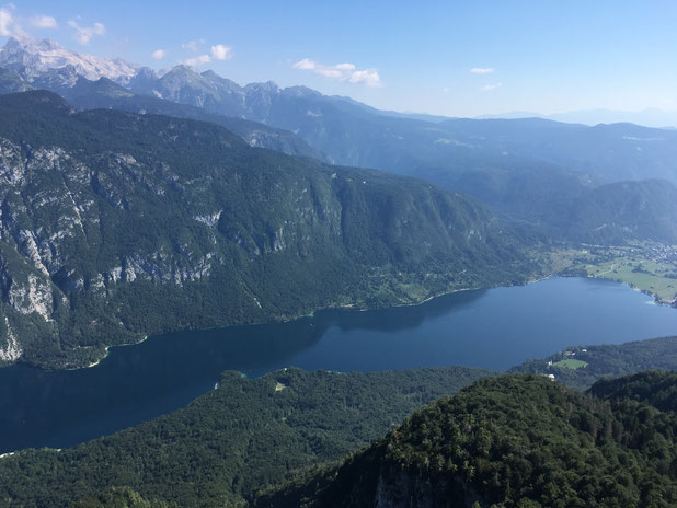 Bohinj Lake from Vogel mountain.