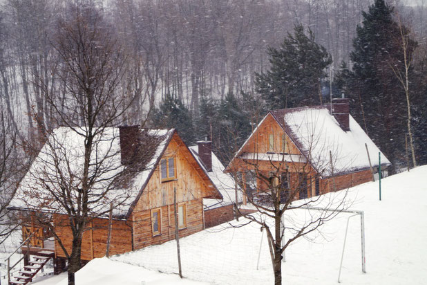 My original intention was to spent a few days in one of those pretty and cosy little cabins..., Poto: Ulf F. Baumann