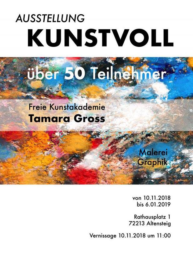 Kunstausstellung Altenburg Rathaus Freie Kunstakademie Calw Tamara Gross Christiane Ros