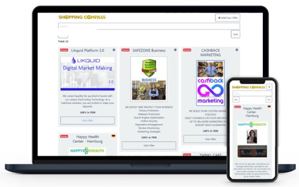 SHOPPING COMPASS - Einkaufen und Werben mit YEM