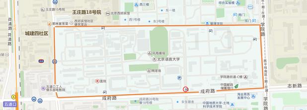 中国 北京語言大学へのアクセス方法 大学見取図