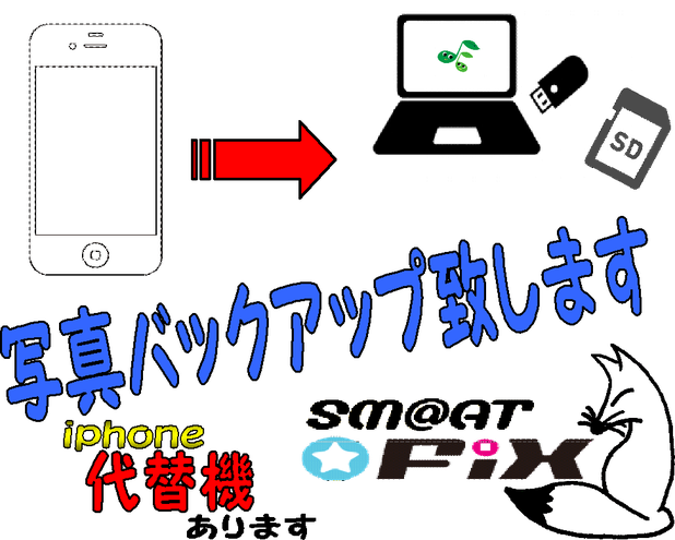 iphone修理小国新庄.iphoneバックアップ山形,iphone代替機山形