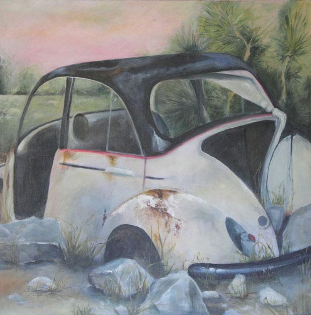 Karlovasi / Acryl auf Leinwand 100 x 100