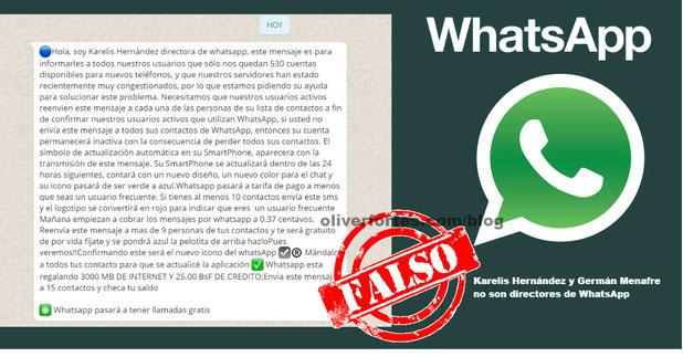 Directora de WhatsApp Karelis Hernandez