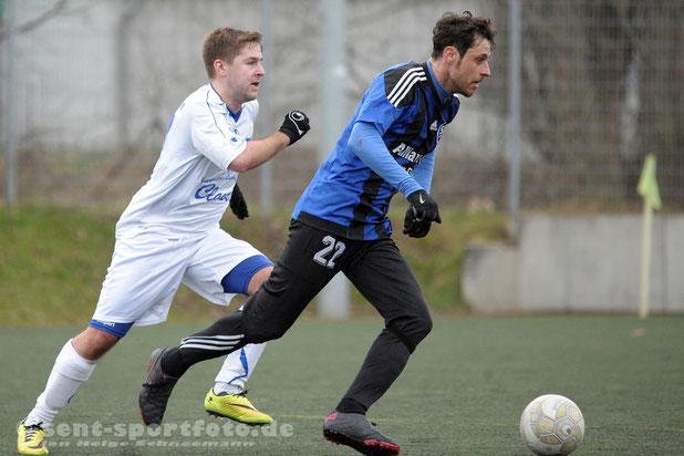 Testspiel des SV Bilshausen gegen den SV Rotenberg (blau)