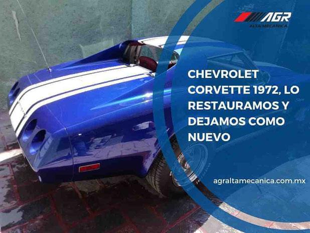 chevrolet corvette 1972 - restauración de autos clásicos y antiguos