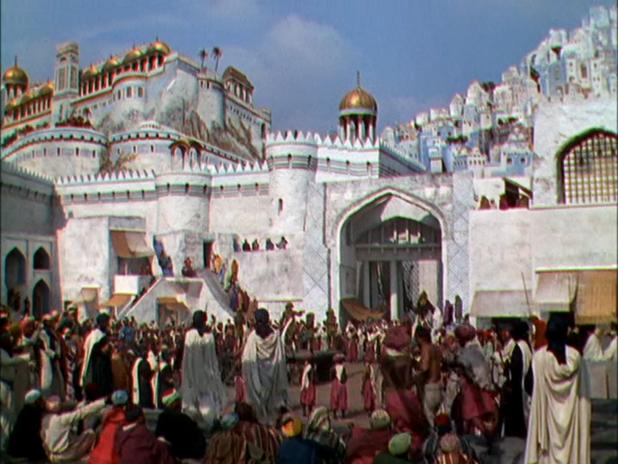 "Une scène du  ""Voleur de Bagdad"".  (1940; Alexandre KORDA)"