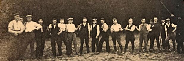 Beginn des Sportplatzes im Rockental im Jahre 1926