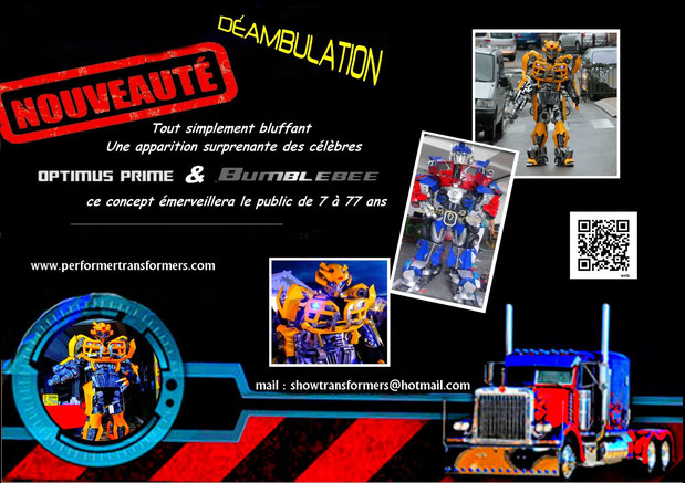 animation transformers , performer transformers , mascotte transformers hasbro , robotsindisguise animation , showtransformers , spectacle transformers , mascotte bumblebee , mascotte optimus prime , mascotte megatron