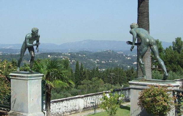 Bild Blick vom Achilleion über Korfu