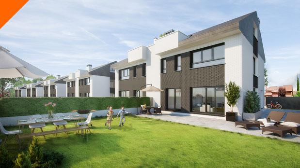 Imágenes 3D para viviendas unifamiliares. Proyectos residenciales para Grupo Larvin