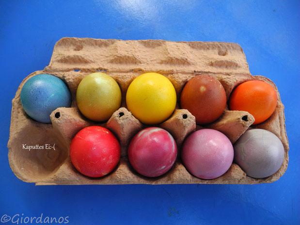 Ostereier gefärbt mit Pflanzenfarben