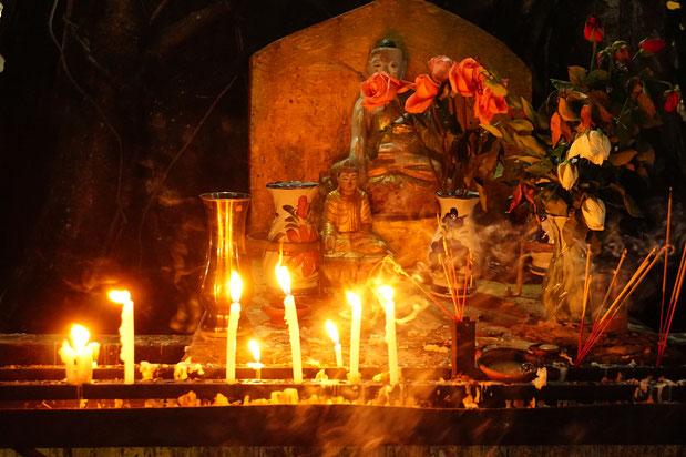 Kerzen, Buddha, Spiritualität