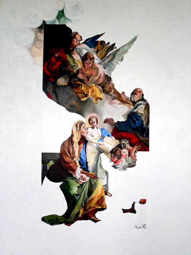 Le Fond et la Forme     Huile/toile, 130 x 97