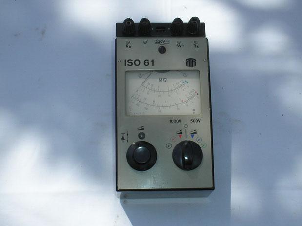 MTM Messtechnik Mellenbach DDR  Isolations Messgerät  ISO  61  von 1978