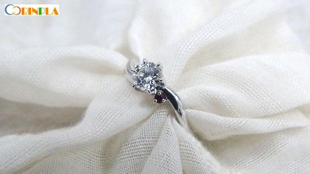 Pt900手作り婚約指輪