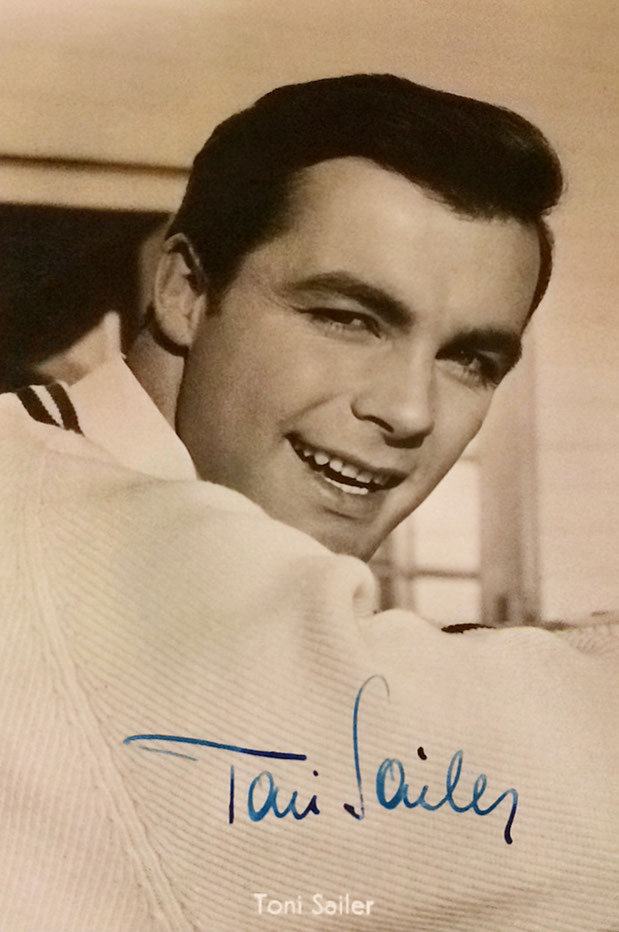 Toni Sailer, Austrian Skier (1935-2009), 3 times Olympic Gold Medal in Cortina 1956, 7 times World Champion, Autograph bought