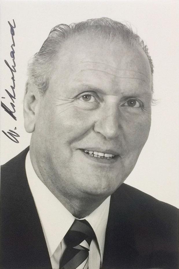 Autograph Willi Ritschard Autograph