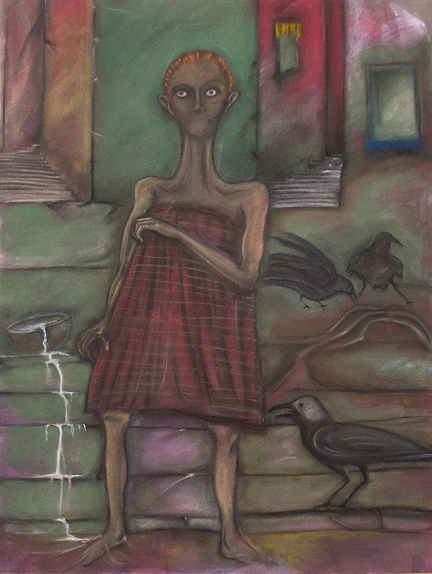 Peinture de Eloi Valat pastels et acrylique