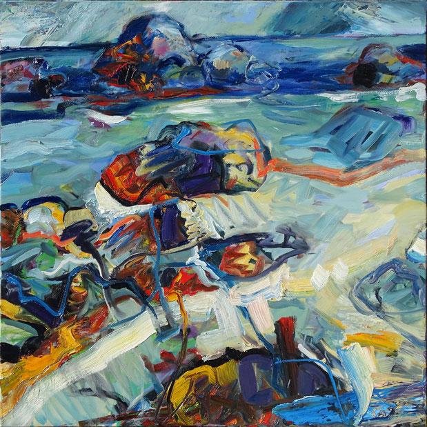 Kerfissien, 2021, Öl auf Lw, 100 x 100 cm
