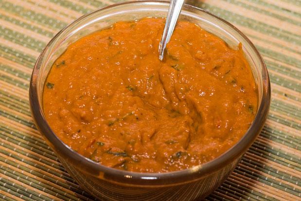 Auberginenmus mit Paprika - Rezept