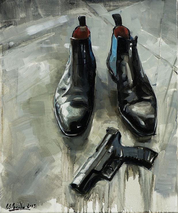 DIE SCHUHE DES RAPPERS | 2017 | Öl auf Leinwand | 60 × 50 cm