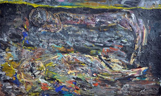 IM SPIEL DER WELLEN III | 2016 | Öl auf Leinwand | 200 × 220 cm