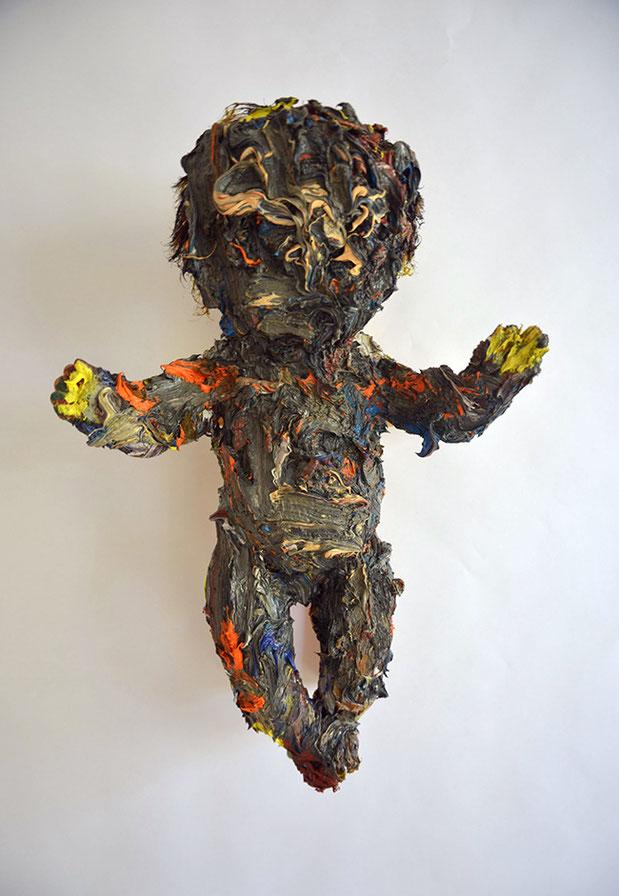GOTTHEITEN I | 2016 | Öl auf Puppe | 43 × 2 7 × 20 cm
