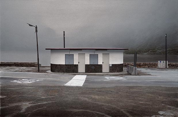GRENZE | 2018 | Arcyl auf Nessel | 55 × 83 cm