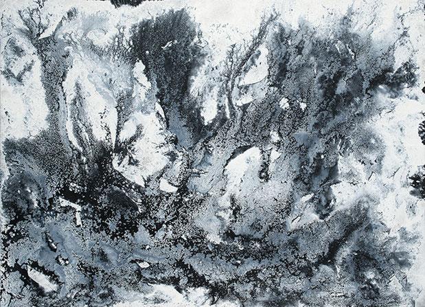 QUANTENSCHAUM (SCHWARZWASSER-EIS) 2015 | Öl und Acryl auf Leinwand | 150 × 200 cm