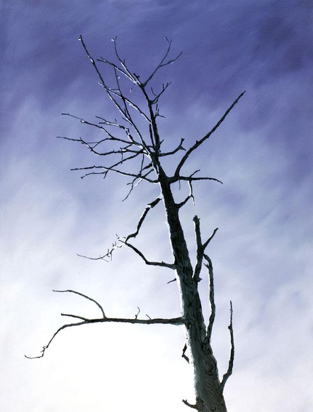 MITTEN IM IRGENDWO – BLUE SKY | 2017 | Öl auf Nessel | 120 × 90 cm