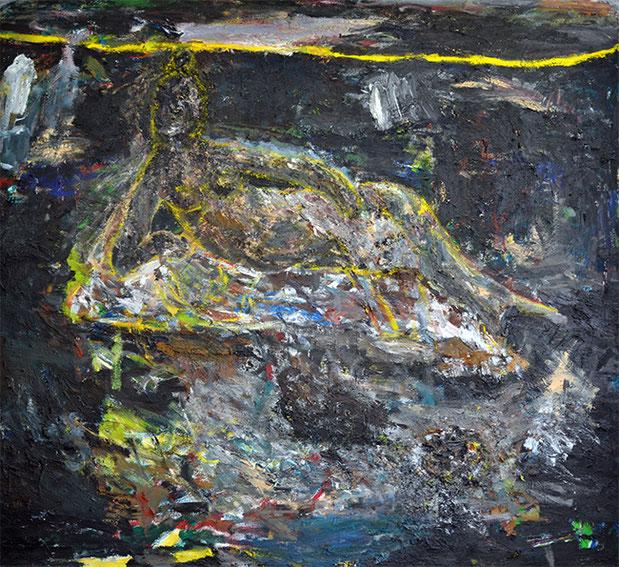 IM SPIEL DER WELLEN II | 2014 | Öl auf Leinwand | 125 × 210 cm