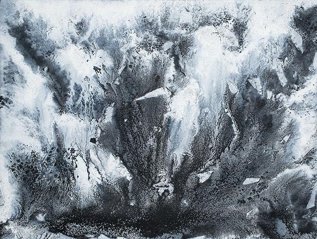 QUANTENSCHAUM (SCHWARZWASSER-SCHNEE) 2015 | Öl und Acryl auf Leinwand | 150 × 200 cm