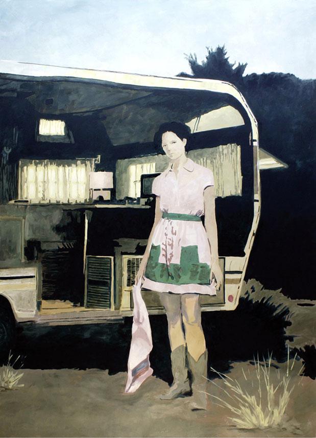 MITTEN IM IRGENDWO – SWEET HOME | 2017 | Öl auf Nessel | 195 × 140 cm